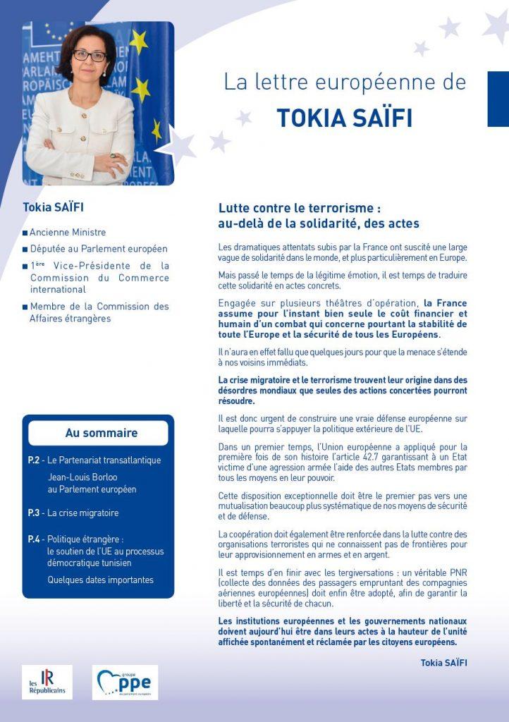 Newsletter Tokia Saïfi page 1