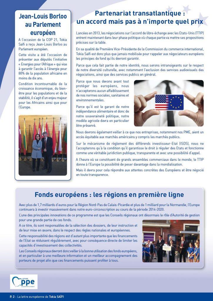 Newsletter Tokia Saïfi page 2