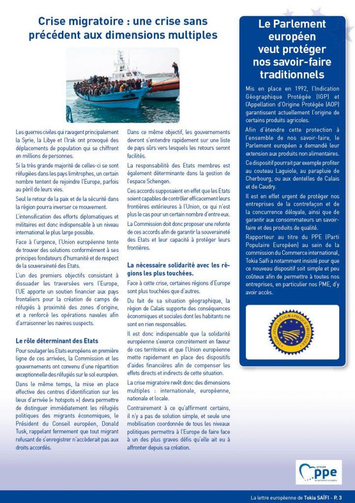 Newsletter Tokia Saïfi page 3