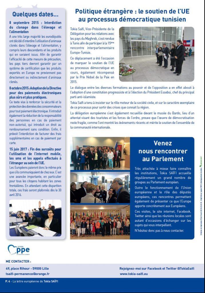 Newsletter Tokia Saïfi page 4