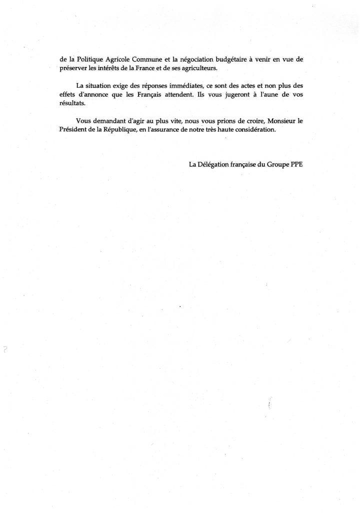 lettre délégation crise agricole 3